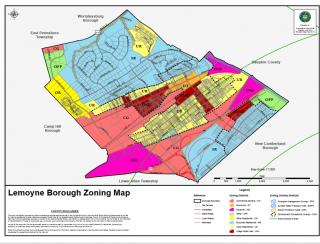 Cumberland County Lemoyne Borough Zoning Map