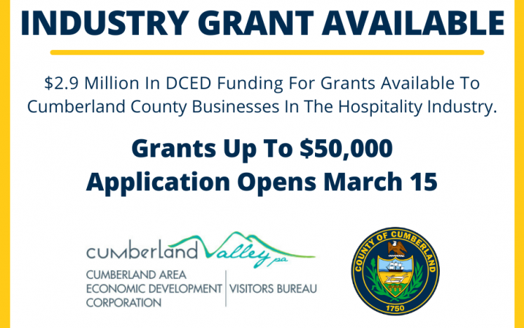 Cumberland County COVID-19  Hospitality Industry Recovery Program (CHIRP) Available